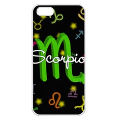 Scorpio Floating Zodiac Name Apple Iphone 5 Seamless Case (white) by theimagezone