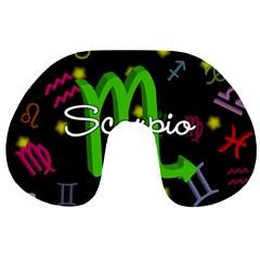 Scorpio Floating Zodiac Name Travel Neck Pillows