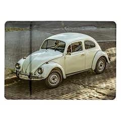 Classic Beetle Car Parked On Street Samsung Galaxy Tab 10.1  P7500 Flip Case by dflcprints