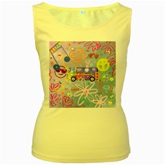 Summer Of Love   The 60s Women s Yellow Tank Tops by MoreColorsinLife