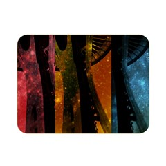 Colorful Space Needle Double Sided Flano Blanket (mini)  by stineshop