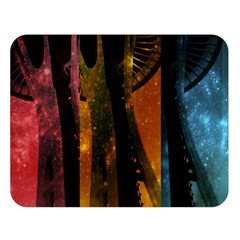 Colorful Space Needle Double Sided Flano Blanket (large)  by stineshop