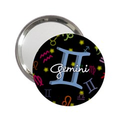 Gemini Floating Zodiac Sign 2.25  Handbag Mirrors by theimagezone