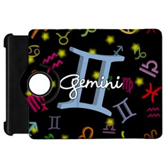 Gemini Floating Zodiac Sign Kindle Fire Hd Flip 360 Case by theimagezone