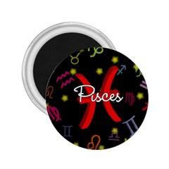 Pisces Floating Zodiac Sign 2 25  Magnets by theimagezone