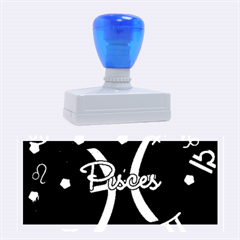 Pisces Floating Zodiac Sign Rubber Stamps (large) by theimagezone