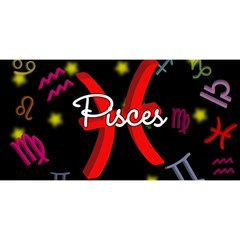 Pisces Floating Zodiac Sign You Are Invited 3d Greeting Card (8x4)