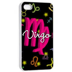 Virgo Floating Zodiac Sign Apple Iphone 4/4s Seamless Case (white) by theimagezone