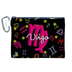 Virgo Floating Zodiac Sign Canvas Cosmetic Bag (XL)  by theimagezone