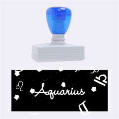 Aquarius Floating Zodiac Name Rubber Stamps (large) by theimagezone