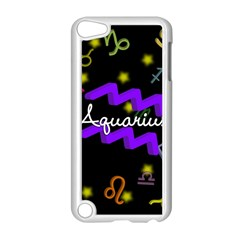 Aquarius Floating Zodiac Name Apple Ipod Touch 5 Case (white) by theimagezone