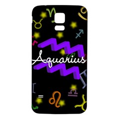 Aquarius Floating Zodiac Name Samsung Galaxy S5 Back Case (white) by theimagezone