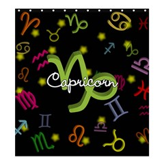 Capricorn Floating Zodiac Name Shower Curtain 66  X 72  (large)  by theimagezone