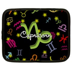 Capricorn Floating Zodiac Name Netbook Case (xl)  by theimagezone