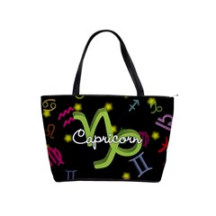 Capricorn Floating Zodiac Name Shoulder Handbags by theimagezone