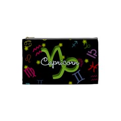 Capricorn Floating Zodiac Name Cosmetic Bag (small)  by theimagezone
