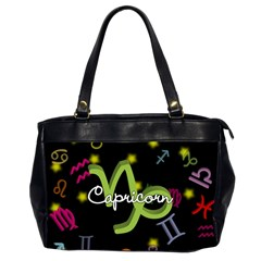 Capricorn Floating Zodiac Name Office Handbags (2 Sides)  by theimagezone