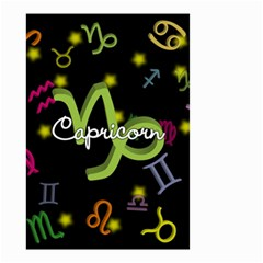 Capricorn Floating Zodiac Name Small Garden Flag (Two Sides) by theimagezone