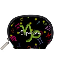 Capricorn Floating Zodiac Name Accessory Pouches (small)  by theimagezone