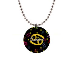 Cancer Floating Zodiac Name Button Necklaces by theimagezone