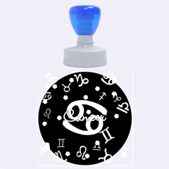 Cancer Floating Zodiac Name Rubber Round Stamps (large) by theimagezone