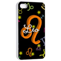 Leo Floating Zodiac Name Apple Iphone 4/4s Seamless Case (white) by theimagezone