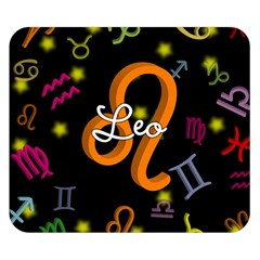 Leo Floating Zodiac Name Double Sided Flano Blanket (small)  by theimagezone