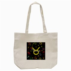 Taurus Floating Zodiac Name Tote Bag (cream)  by theimagezone