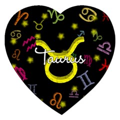 Taurus Floating Zodiac Name Jigsaw Puzzle (Heart) by theimagezone