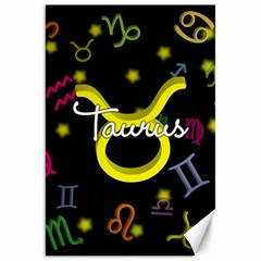 Taurus Floating Zodiac Name Canvas 20  X 30   by theimagezone