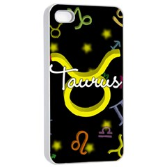 Taurus Floating Zodiac Name Apple Iphone 4/4s Seamless Case (white) by theimagezone