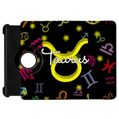 Taurus Floating Zodiac Name Kindle Fire Hd Flip 360 Case by theimagezone