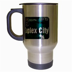 Suplex City Cup Travel Mug (Silver Gray) by TheDean