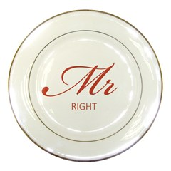 Mr Right Porcelain Display Plate by maemae