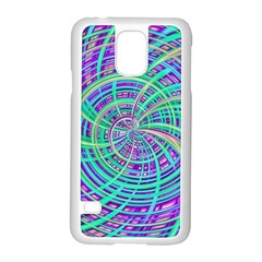 Happy Aqua Samsung Galaxy S5 Case (white) by MoreColorsinLife