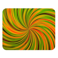 Happy Green Orange Double Sided Flano Blanket (large)  by MoreColorsinLife