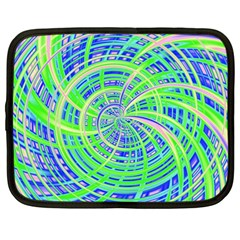 Happy Green Netbook Case (large) by MoreColorsinLife