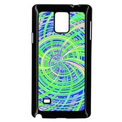 Happy Green Samsung Galaxy Note 4 Case (black) by MoreColorsinLife