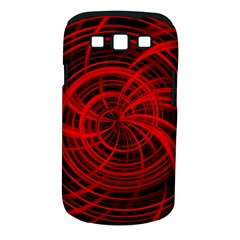 Happy, Black Red Samsung Galaxy S III Classic Hardshell Case (PC+Silicone) by MoreColorsinLife