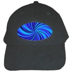 Happy, Blue Black Cap by MoreColorsinLife