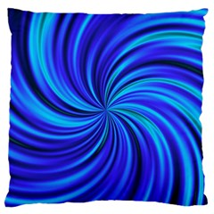 Happy, Blue Standard Flano Cushion Cases (one Side)