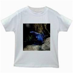 Blue Poison Arrow Frog Kids White T-Shirts by stineshop