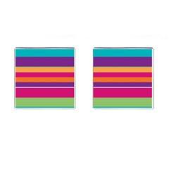 Jagged Stripes Cufflinks (square) by LalyLauraFLM