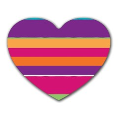 Jagged Stripes Heart Mousepad by LalyLauraFLM