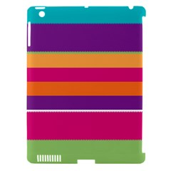 Jagged Stripes Apple Ipad 3/4 Hardshell Case (compatible With Smart Cover) by LalyLauraFLM