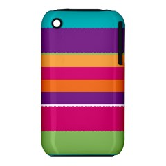 Jagged stripes Apple iPhone 3G/3GS Hardshell Case (PC+Silicone) by LalyLauraFLM