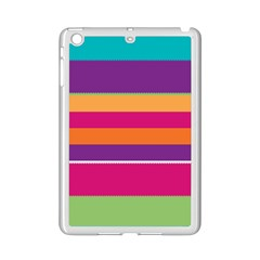 Jagged stripes Apple iPad Mini 2 Case (White) by LalyLauraFLM