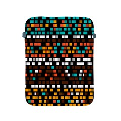 Squares Pattern In Retro Colors Apple Ipad 2/3/4 Protective Soft Case by LalyLauraFLM