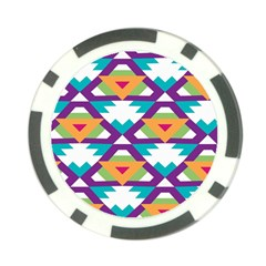 Triangles And Other Shapes Pattern Poker Chip Card Guard by LalyLauraFLM