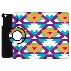 Triangles And Other Shapes Pattern Apple Ipad Mini Flip 360 Case by LalyLauraFLM